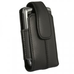 Axiom Leather Case w/Attached Swivel Clip (Black)