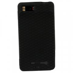 Motorola Rubberized Textured Skin Shell Guard (Black)