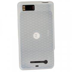 Motorola Rubberized Textured Skin Shell Guard (Clear)