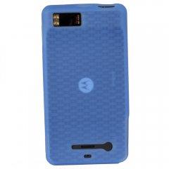 Motorola Rubberized Textured Skin Shell Guard (Dark Blue)