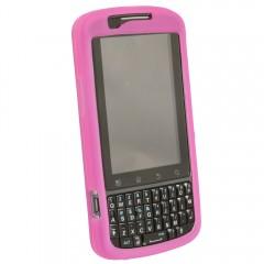 Motorola Rubberized Skin Shell Guard (Dark Pink no clip)