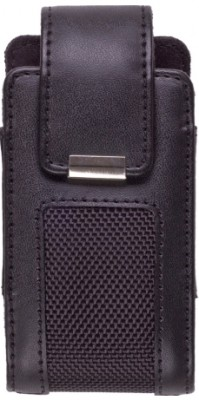 Premium Fitted Vertical Leather Pouch w/Ratcheting Belt Clip & Magnetic Closure. (XL)