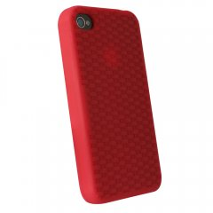 Red Silicone Sleeve for Apple iPhone 4