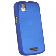 Dark Blue Fitted Rubberized Protective Shield for Motorola XT610 Droid Pro