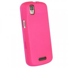 Dark Pink Fitted Rubberized Protective Shield for Motorola XT610 Droid Pro