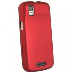 Red Fitted Rubberized Protective Shield for Motorola XT610 Droid Pro