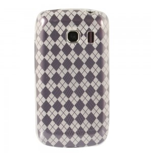 Clear Color TPU Case with Argyle Pattern compatible with Motorola Droid Bionic Targa XT875