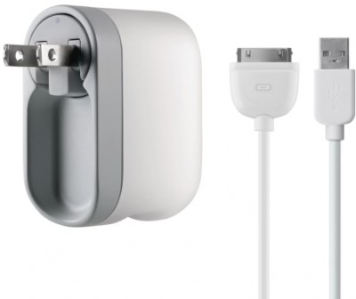 Belkin Swivel 2.1 Amp 30-Pin Travel/Wall 2.1 Amp Charger w/Detatchable Cord