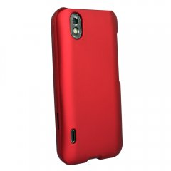 Red Rubberized Protective Shield compatible with Motorola Droid 4