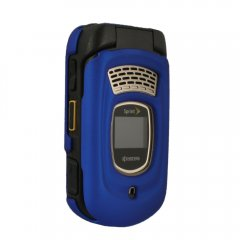 Dark Blue Rubberized Protective Shield Compatible With Kyocera DuraMax