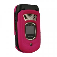 Dark Pink Rubberized Protective Shield Compatible With Kyocera DuraMax