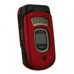 Red Rubberized Protective Shield Compatible With Kyocera DuraMax