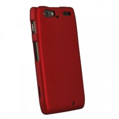 Red Rubberized Protective Shield compatible with Motorola Droid RAZRMAX