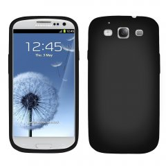 Black Silicone Sleeve compatible with Samsung Galaxy S III