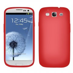 Red Silicone Sleeve compatible with Samsung Galaxy S III