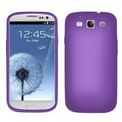 Purple Silicone Sleeve compatible with Samsung Galaxy S III