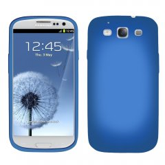 Dark Blue Silicone Sleeve compatible with Samsung Galaxy S III