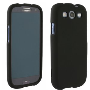 Samsung Galaxy S III Rubberized Protective Shield (Black)