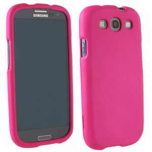 Samsung Galaxy S III Rubberized Protective Shield (Dark Pink)