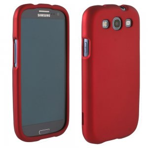 Samsung Galaxy S III Rubberized Protective Shield (Red)