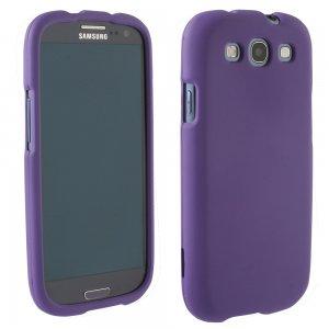 Samsung Galaxy S III Rubberized Protective Shield (Purple)