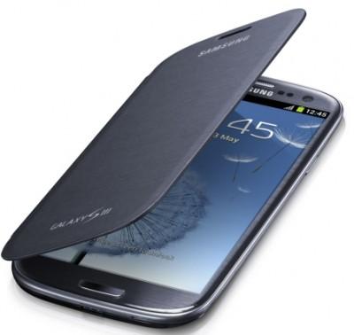 Samsung Galaxy S III Polyurethane Flip Cover (Blue)