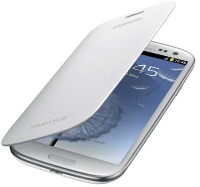 Samsung Galaxy S III Polyurethane Flip Cover (White)