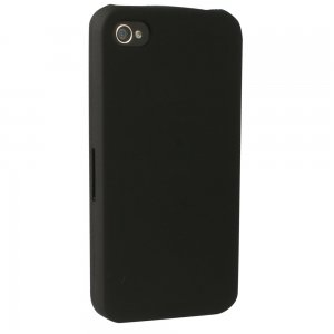 Black Rubberized Protective Shield compatible iPhone 4/4s