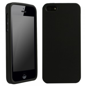 Black Silicone Sleeve compatible with Apple iPhone 5