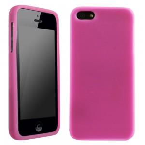 Dark Pink Silicone Sleeve compatible with Apple iPhone 5