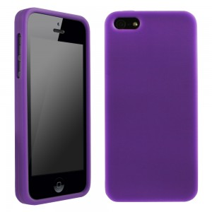 Rav'ns Purple Silicone Sleeve compatible with Apple iPhone 5