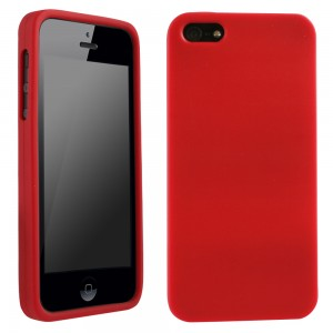 Red Silicone Sleeve compatible with Apple iPhone 5