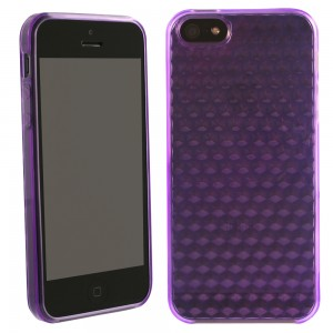 TPU Case compatible with Apple iPhone 5 - Solid Purple with Texture