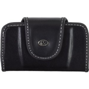 Milante Horizontal Abruzzi Leather Case w/Belt Clip (Black)