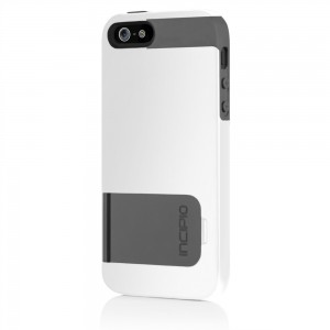 Incipio KicksSnap Case for Apple iPhone 5 (White and Grey)