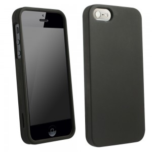 Black Rubberized Protective Shield compatible with Apple iPhone 5