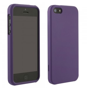 Purple Rubberized Protective Shield compatible with Apple iPhone 5