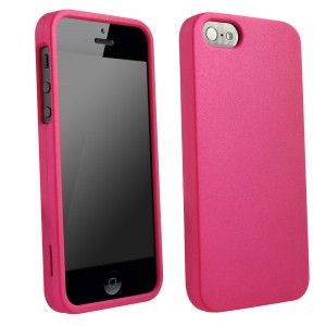 Dark Pink Rubberized Protective Shield compatible with Apple iPhone 5