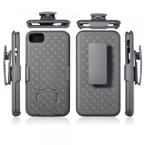 Apple iPhone 5/5S/SE Holster Shell Combo Kick Stand & Clip, Black