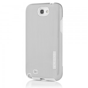 Incipio Dual Pro Shine Case for Samsung Galaxy Note 2 - Silver/White