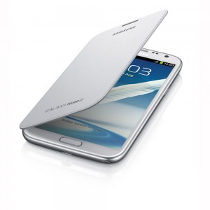 Samsung Galaxy Note II Flip Cover, Marble White