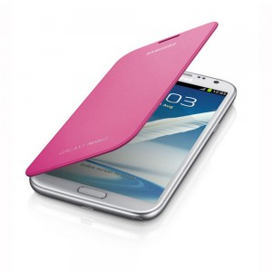 Samsung Galaxy Note II Flip Cover, Pink