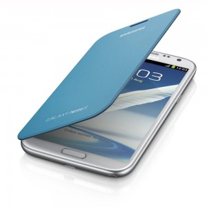 Samsung Galaxy Note II Flip Cover, Light Blue