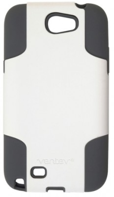 Ventev Galaxy Note II Fusion Case, White PC / Gray Silicone