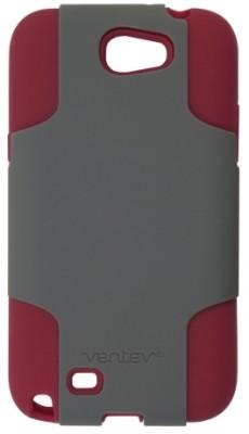 Ventev Galaxy Note II Fusion Case, Gray PC / Red Silicone