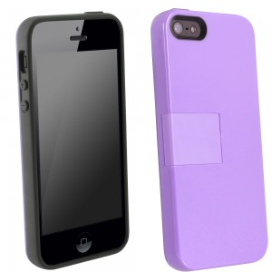 UMA Uflex Fusion Case iPhone 5 - Gray/Rav'ns Purple