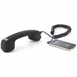 Echo Logico 3.5MM Soft Touch Retro Handset in Black
