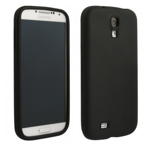 Black Silicone Sleeve compatible with Samsung Galaxy S4