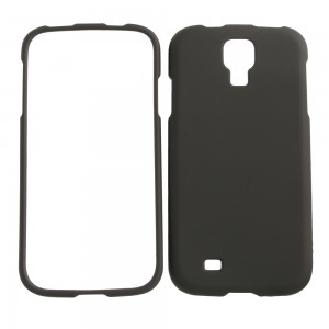 Black rubberized snap on cover for Samsung Galaxy S4