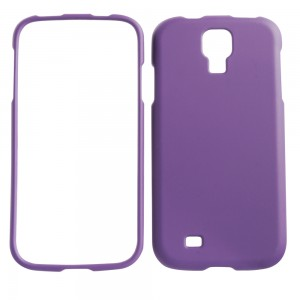 Purple rubberized snap on cover for Samsung Galaxy S4